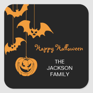 Scary Creatures Halloween Gift Tag Stickers
