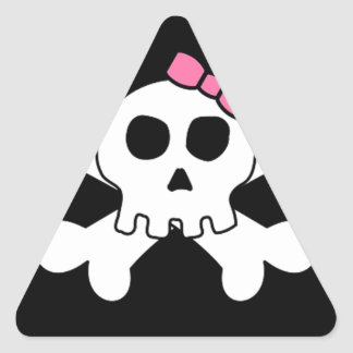 Scary cute Girly skull and cross bones Stickers