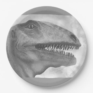 Scary Dinosaur 9 Inch Paper Plate