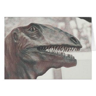 Scary Dinosaur Birthday Card
