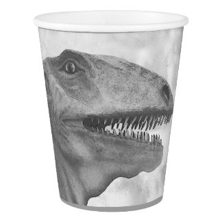 Scary Dinosaur Paper Cup