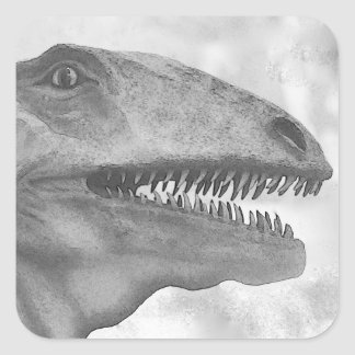 Scary Dinosaur Square Sticker