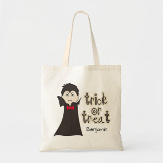 Scary Dracula Halloween Trick or Treat Candy Budget Tote Bag