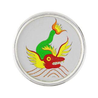 scary dragon lapel pin