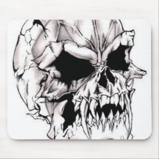 Scary Evil Deadly Skull Mousepad