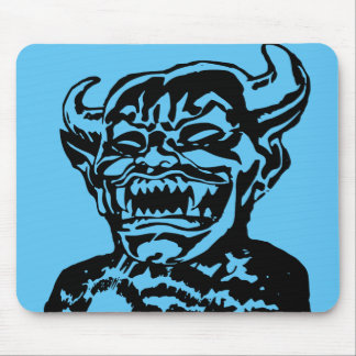 Scary Evil Laughing Devil Face Mouse Pad