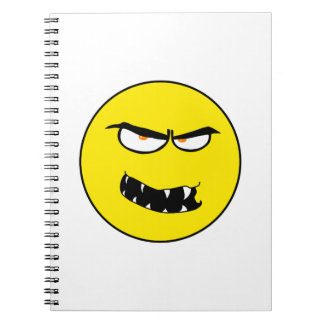 Scary Evil Smiley Face Spiral Note Book