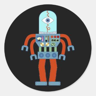 Scary Eyeball Robot Classic Round Sticker