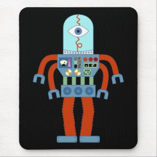 Scary Eyeball Robot Mousepad