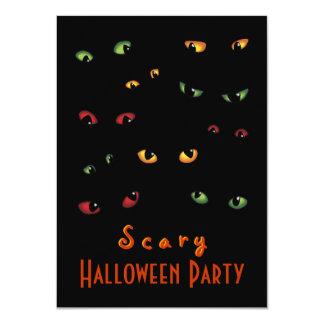 Scary Eyes Halloween Party Invitations