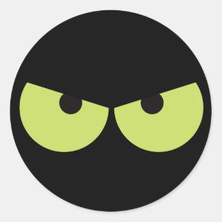 Scary eyes Halloween sticker