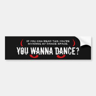 Scary Eyes - You Wanna Dance? Bumper Sticker