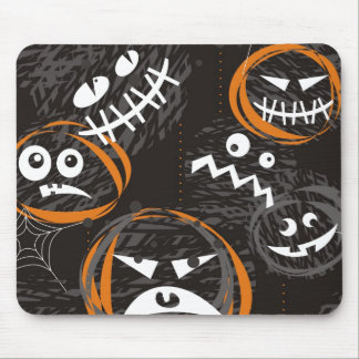 scary faces mouse pad