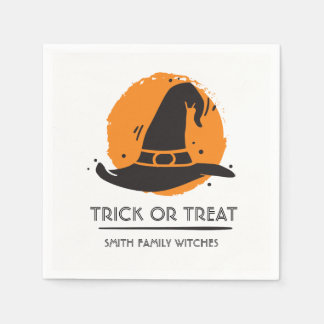 Scary Family of Witches. Disposable Serviette