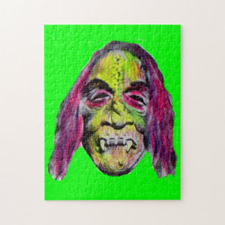 scary fiendish horror monster portrait jigsaw puzzle