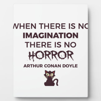 Scary Frightening Horror Halloween Design Plaque