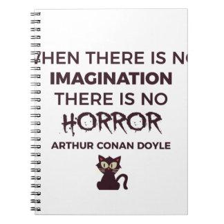 Scary Frightening Horror Halloween Design Spiral Notebook