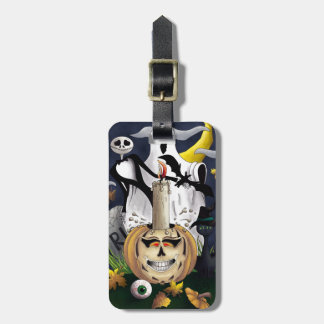 Scary Fun Halloween Creatures Tags For Luggage