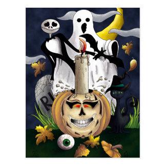 Scary Fun Halloween Creatures Postcard