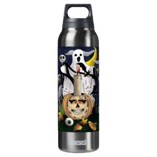 Scary Fun Halloween Creatures 16 Oz Insulated SIGG Thermos Water Bottle