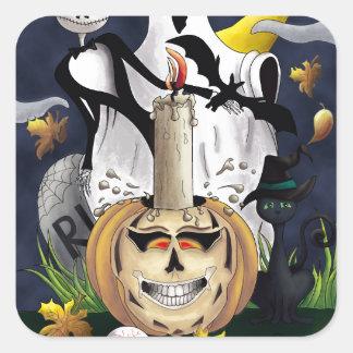 Scary Fun Halloween Creatures Sticker