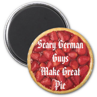 Scary German Guy Pies 6 Cm Round Magnet