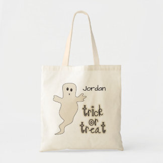 Scary Ghost Halloween Trick or Treat Candy Budget Tote Bag