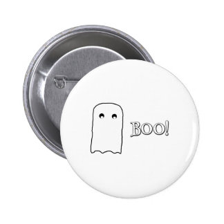 Scary Ghost saying Boo! 6 Cm Round Badge