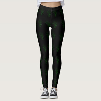 Scary Glow In The Dark Werewolf Occult Style Leggings
