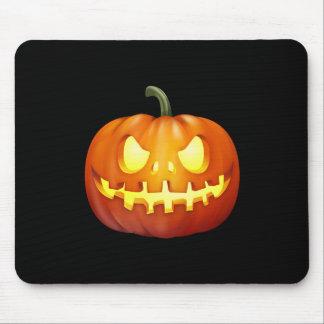 Scary Glowing Jack-o-Lantern Pumpkin Carving Mousepad