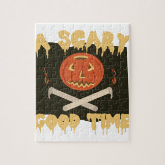 Scary Good Time Flag Jigsaw Puzzle