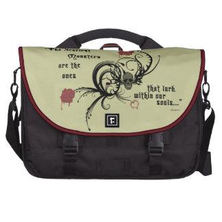 Scary Gothic Edgar Allen Poe Messenger Bag Laptop Bag