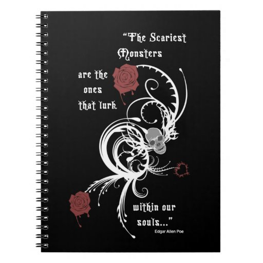 Scary Gothic Edgar Allen Poe Note Book