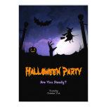 Scary Graveyard - Pumpkin Witch Halloween Party 13 Cm X 18 Cm Invitation Card