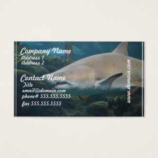 Scary Great White Shark Business Card