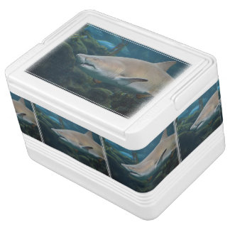 Scary Great White Shark Igloo Ice Chest