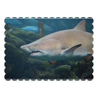 Scary Great White Shark 13 Cm X 18 Cm Invitation Card