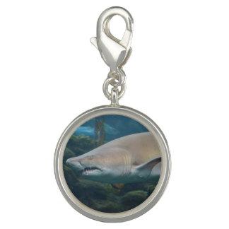 Scary Great White Shark Charm Bracelet
