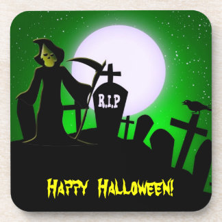 Scary Grim Reaper Halloween Party Coaster