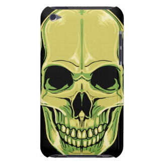 Scary Grinning Green Skull Barely There iPod Covers