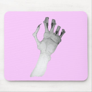 Scary gruesome monster hand with long nails art mouse pad