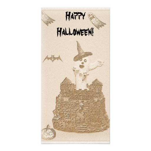 Scary Halloween Bookmark Customized Photo Card