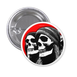 Scary Halloween Button Pirate Skull 2