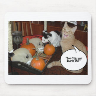 Scary Halloween Cats Mouse Pad