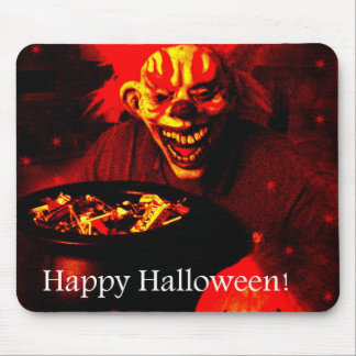 Scary Halloween Clown Design Mouse Pad