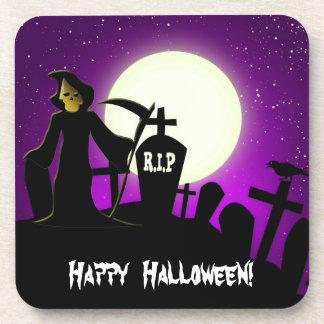 Scary Halloween Beverage Coaster