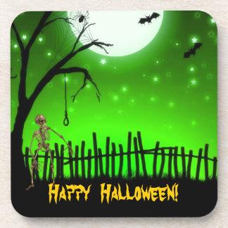Scary Halloween Drink Coaster