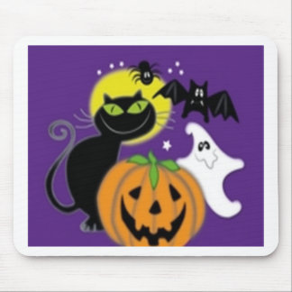 Scary Halloween design Mouse Pads