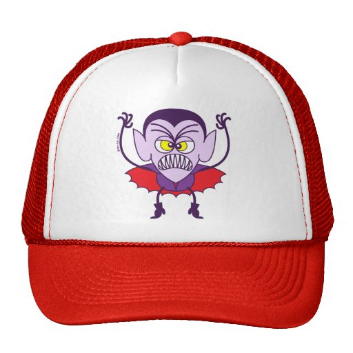 Scary Halloween Dracula Emoticon Hat