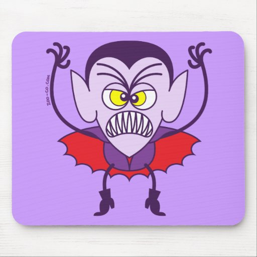 Scary Halloween Dracula Emoticon Mouse Pads
